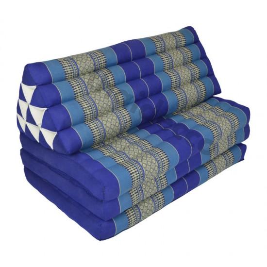Stor thaikudde Jumbo XXL med tre liggdelar i färgerna blå och vit