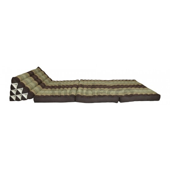 Thai pillow Jumbo XXL with three fold out mattresses - Brown/Beige