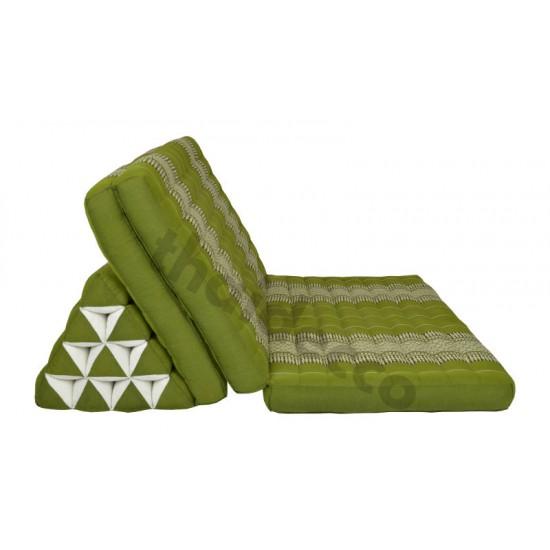 Stor thaikudde Jumbo XXL med tre liggdelar i färgerna grön och vit