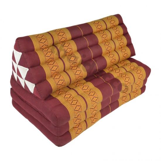 Stor thaikudde Jumbo XXL med tre liggdelar i färgerna röd och guld