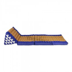 Thaikudde XL med tre liggdelar - Blå/Guld