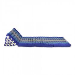 Thaikudde XL med tre liggdelar - Blå/Vit