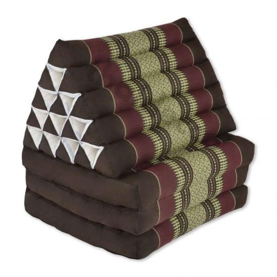 Triangelkudde XL med tre delar i färgerna brun och röd