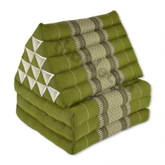 Triangelkudde XL med tre delar i färgerna grön och vit