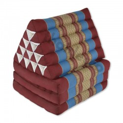 Thaikudde XL med tre liggdelar - Röd/Blå