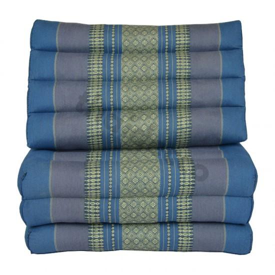 Köp thaikudde och golvkudde med tre sittdelar i färg blå och grå