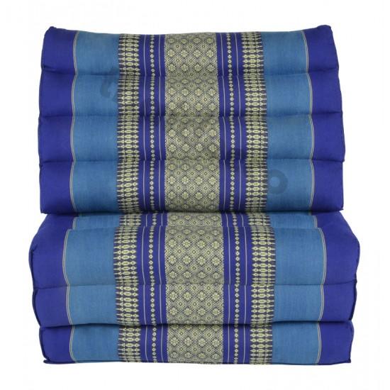 Köp thaikudde och golvkudde med tre sittdelar i färg blå och vit