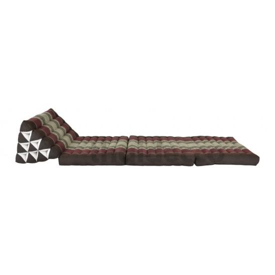 Köp thaikudde och golvkudde med tre sittdelar i färg brun och röd