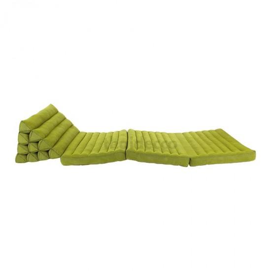 Golvkudde i enfärgad grön färg