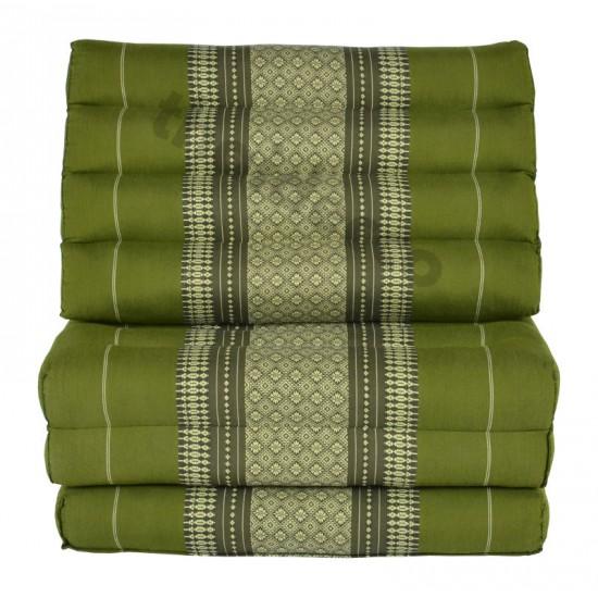Köp thaikudde och golvkudde med tre sittdelar i färg grön och vit