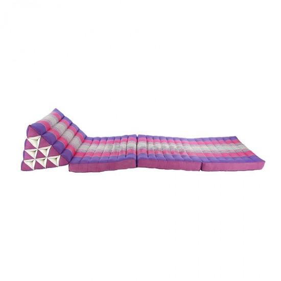 Köp thaikudde och golvkudde med tre sittdelar i lila och rosa färg