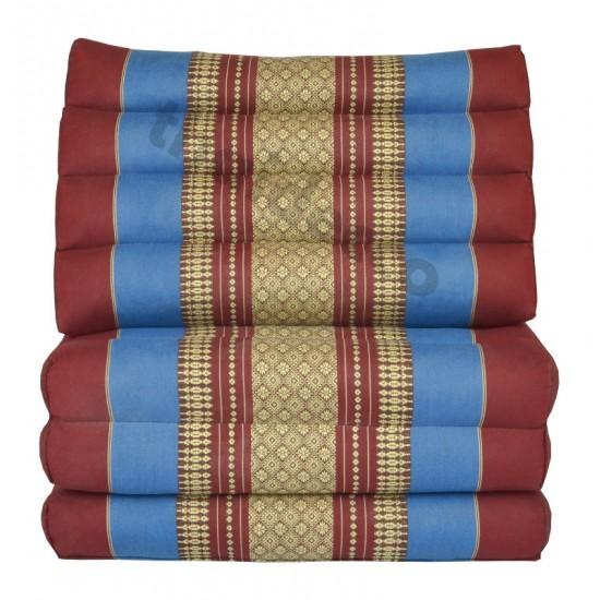 Köp thaikudde och golvkudde med tre liggdelar i färgerna röd och blå