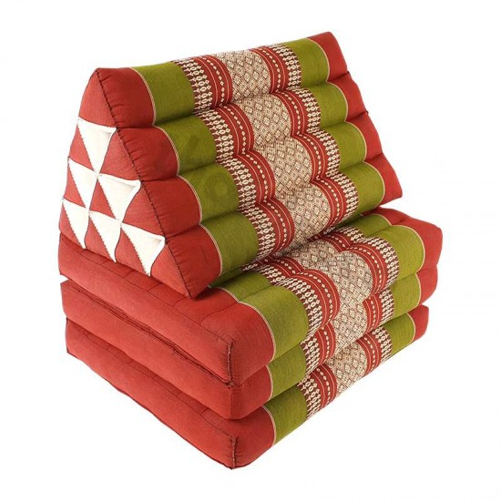 Köp thaikudde och golvkudde med tre sittdelar i färg röd och grön