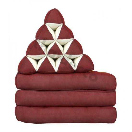 Köp thaikudde och golvkudde med tre liggdelar i färgerna röd och guld