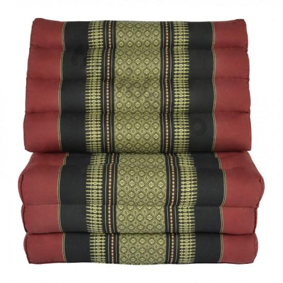 Köp thaikudde och golvkudde med tre liggdelar i färgerna röd och svart