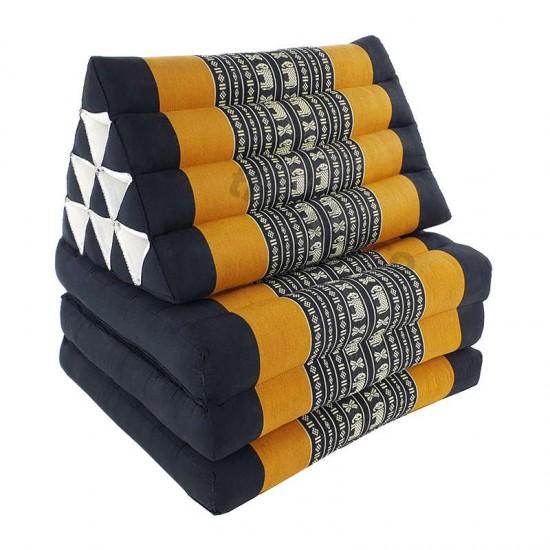 Köp thaikudde och golvkudde med tre liggdelar i färgerna svart och orange