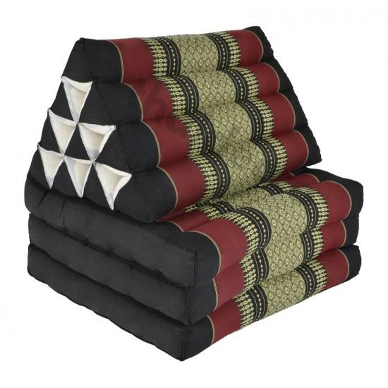 Köp thaikudde och golvkudde med tre liggdelar i färgerna svart och röd