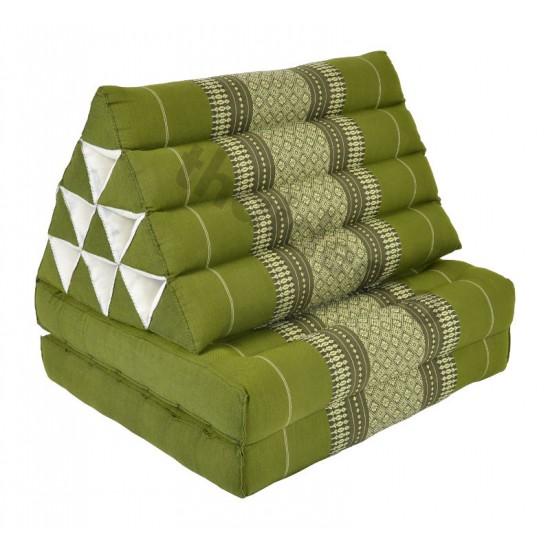 Pyramidkudde från Thailand med två liggdelar i färgerna grön och vit