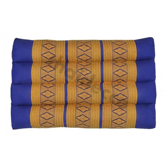 Thailändsk pyramidkudde utan liggdel i färgerna blå och guld