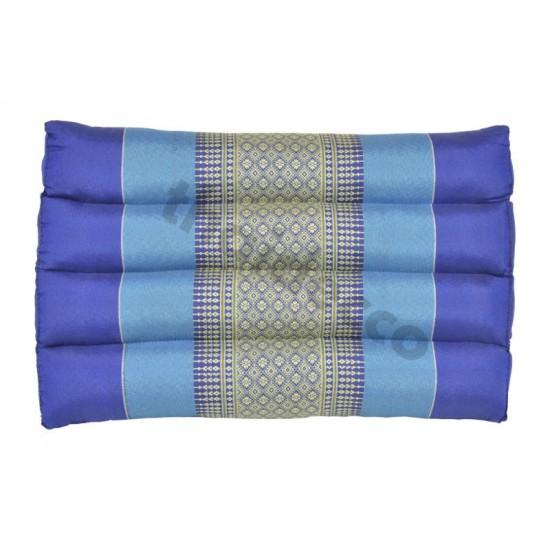 Thailändsk pyramidkudde utan liggdel i färgerna blå och vit