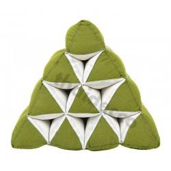 Pyramidkudde - Grön/Vit
