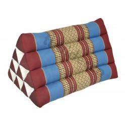 Pyramidkudde - Röd/Blå