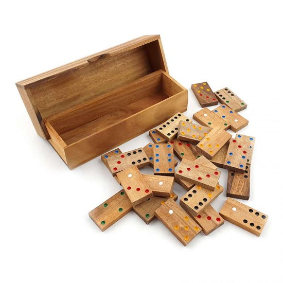 Domino 6x6 points wooden game