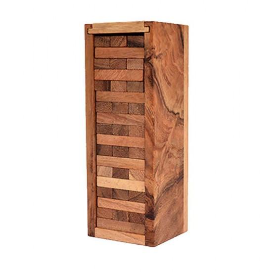 Jenga Mini träspel torn med klossar som byggs till ett torn