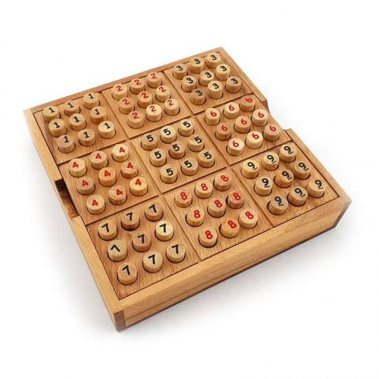 Sudoku Box Träspel inklusive förvaringsbox