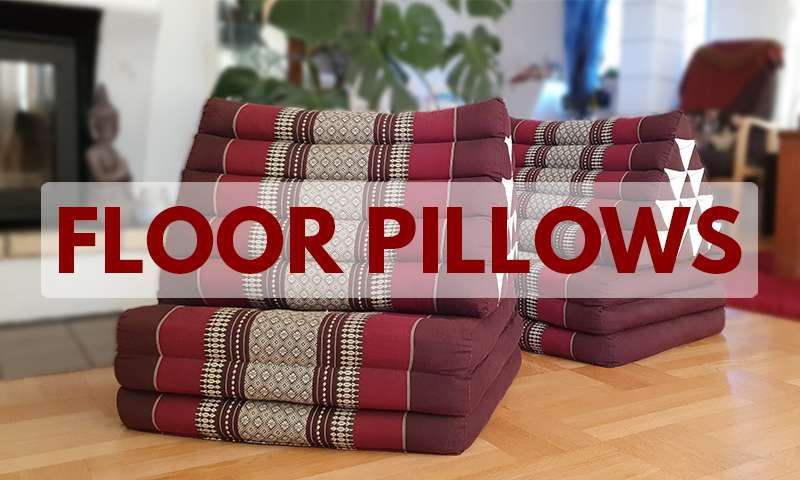 Floor pillows from Thaidecco