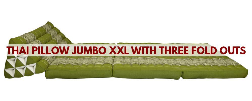 Thai pillow Jumbo XXL with three fold outs