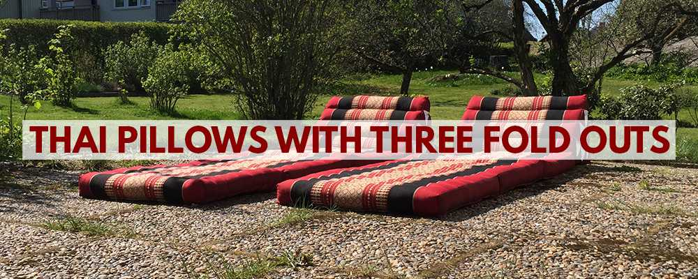 Thai pillows & Triangle cushions with three fold outs