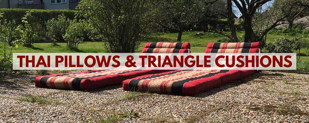 Thai pillows & Triangle cushions from Thailand