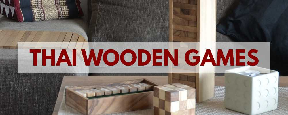 Wooden games from Thailand - Jenga and Shut The Box