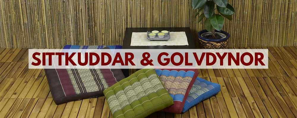 Sittkuddar och golvdynor från Thailand